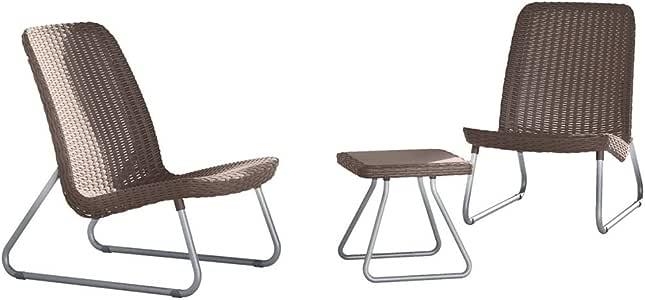 Keter Rio Conjunto de muebles de jardín de ratán: Amazon.es: Jardín