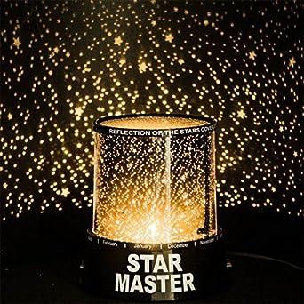 lámpara Proyector de estrellas LED Dormitorio efecto Cielo ...