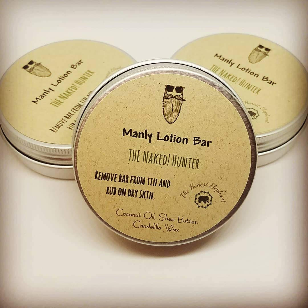 The Honest Elephant All Natural, Extra Moisturizing Lotion Bar for the Outdoorsman & No Fragrance - The Naked Hunter
