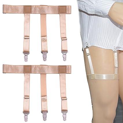 Fashion Elastic Adjustable Legs Belts Suspenders For Men Shirt Holders Suspenders Mens Clothes Accessories Complete Range Of Articles Men's Suspenders