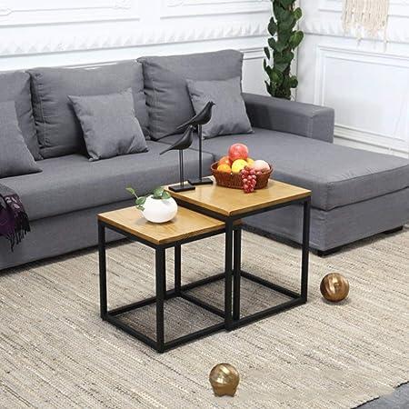 Small table Juego de Mesa de Centro Alta y Baja, Mesa Auxiliar de ...
