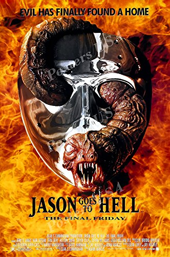 Movie Hell Poster - Posters USA Jason Goes to Hell The Final Friday the 13th GLOSSY FINISH Movie Poster - FIL890 (24