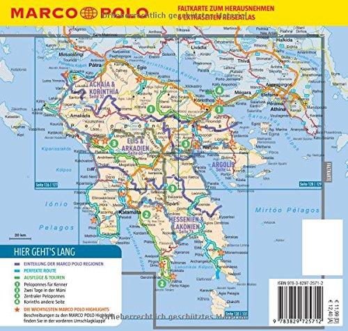 Peloponnes Karte Regionen.Marco Polo Reiseführer Peloponnes Reisen Mit Insider Tipps Mit
