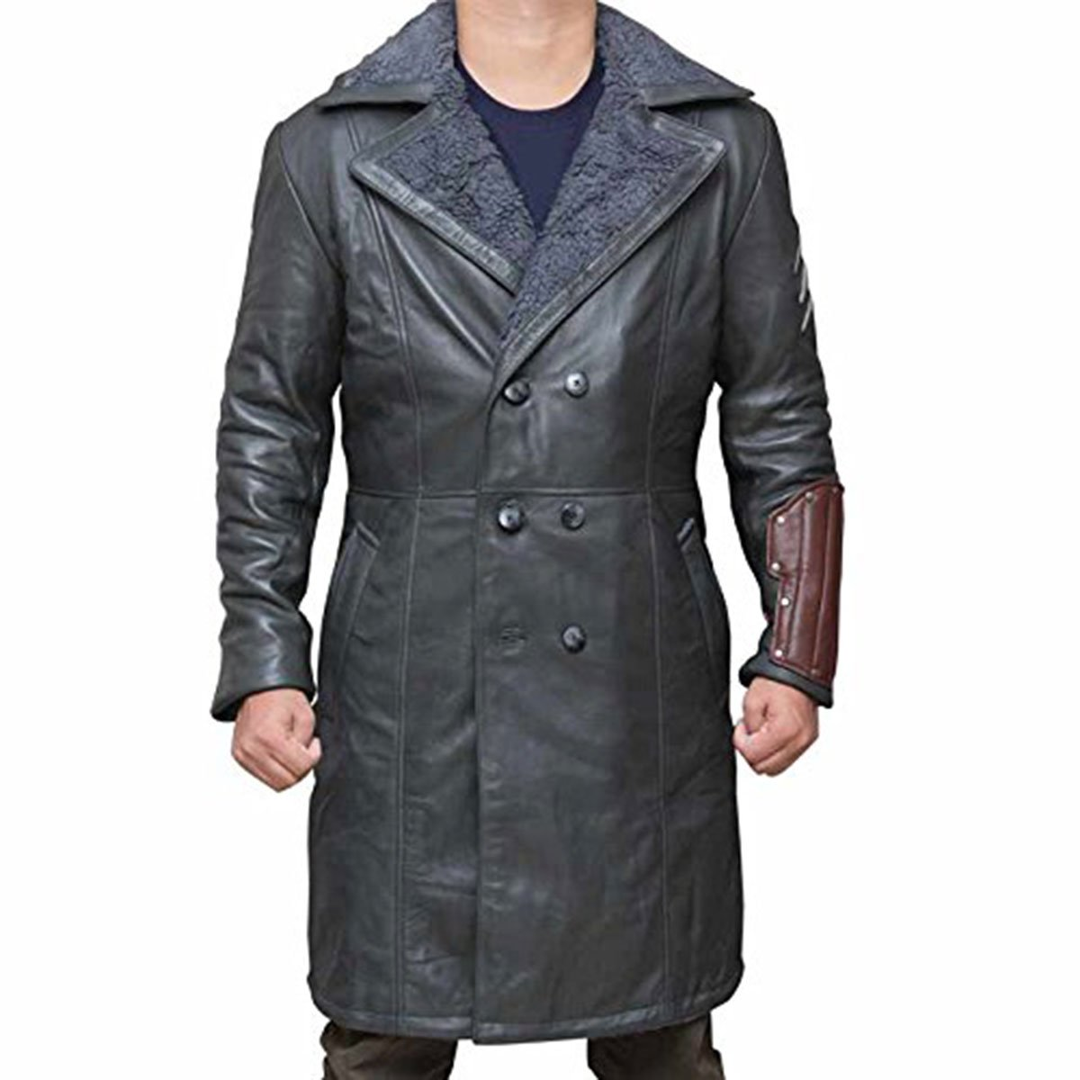Suicide Squad Captain Boomerang Dark Grey Coat Surprise Gift For Father- PU (M, Grey)