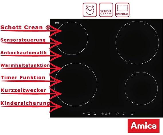 Amica KMI 13332 Schott Ceran - Placa de inducción con sensor ...