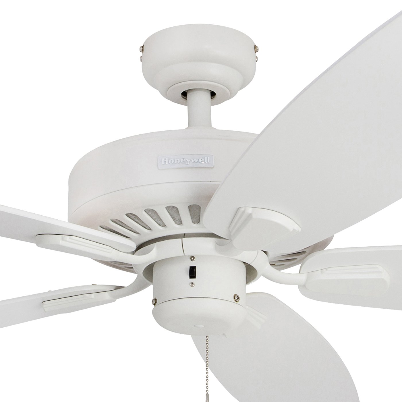 Honeywell Sutton 52-Inch Ceiling Fan, Energy Star Certified, Five Reversible White Maple Blades, White
