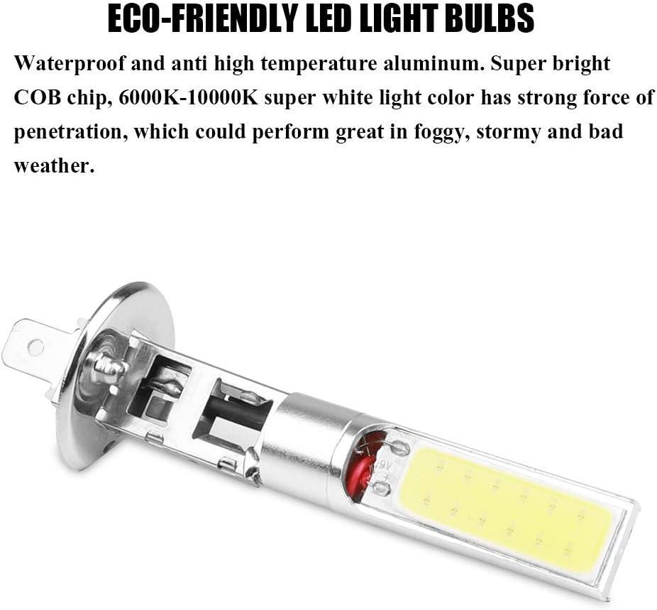 UNHO 2 x Feux de Brouillard pour Voitures Sint/égr/é 24 LEDs Ampoule H1 COB 20W DC 12V Lumi/ère Super Blanc de 6000K 10000K Haute Luminosit/é et Faible Consommation