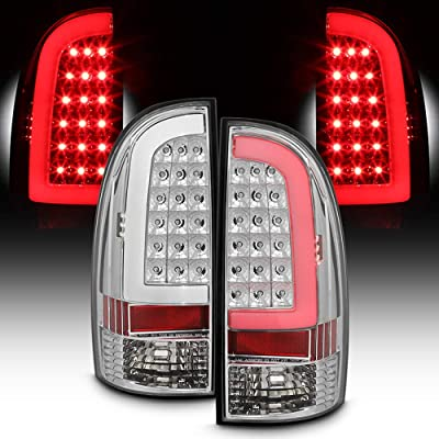 ACANII - For 2005-2015 Toyota Tacoma LED Tube Tail Lights Brake Lamps 05-15 Left+Right: Automotive