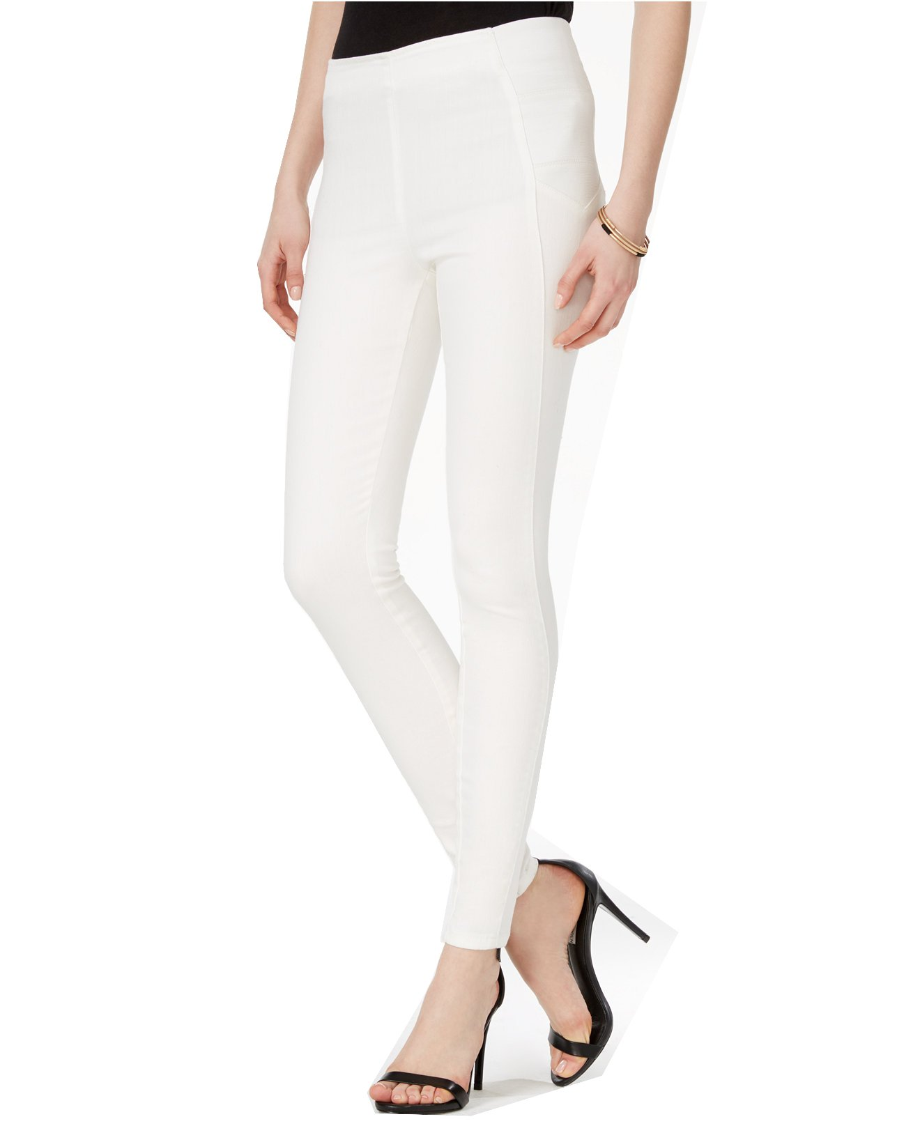 GUESS Women's Pull-On Skinny Jeggings (X-Large, Silicone Rinse)
