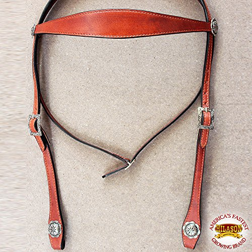 - HILASON Western Leather Draft Horse Bridle Headstall Oversize TAN