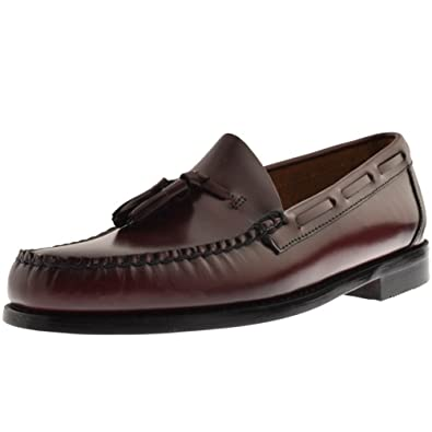 5ee7165f3a3 Mens GH Bass Weejun Larkin Tassel Loafers Red - 8 (42)  Amazon.co.uk ...