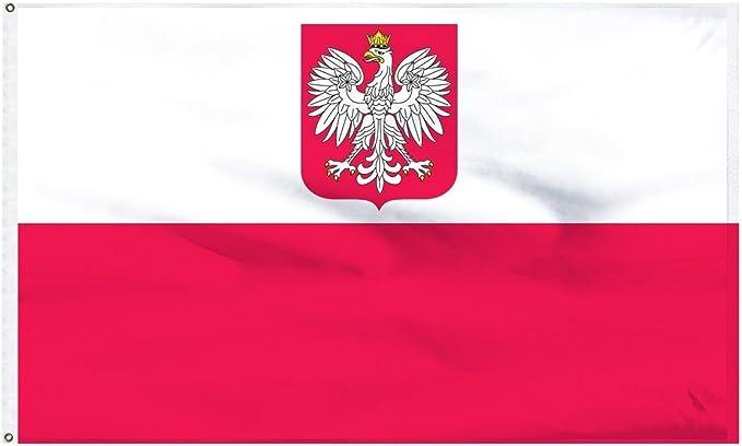 3x5 Ancestral Old Poland Polska Eagle Flag Civil Ensign 3/'x5/' House Banner 100D