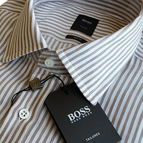 HUGO BOSS TAILORED Hemd T-Shane 50310749 Gr.40 (15 3/4) SLIM, LEINEN