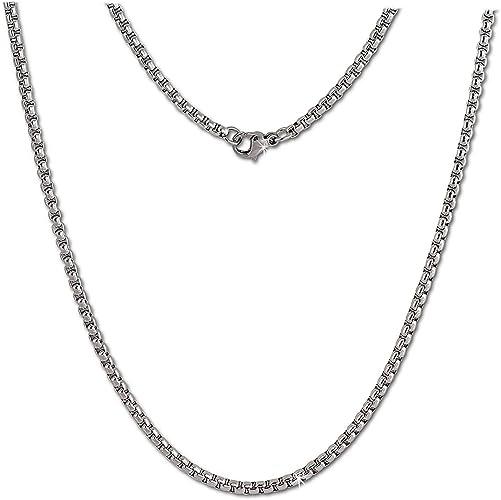 Edelstahl Kette Halskette Herren Damen Edelstahlkette Schlangenkette 52 cm