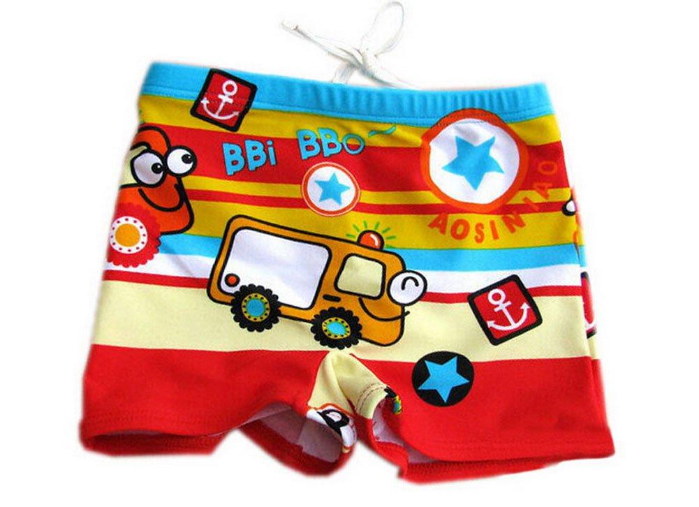 Cartoon Car Children's Swimming Trunks Boy Swimwear XL PANDA SUPERSTORE