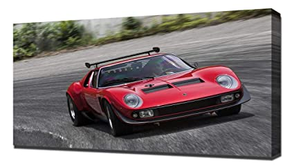 Amazon Com Lilarama Usa 1968 Lamborghini Miura Jota Svr V1 Canvas