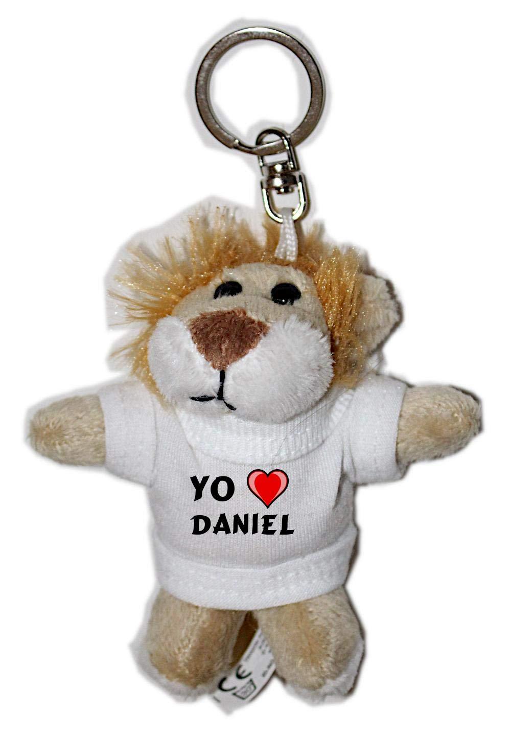 León de peluche (llavero) con Amo Daniel en la camiseta ...
