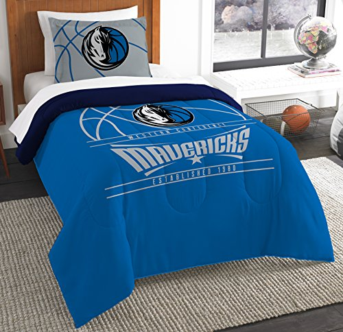 The Northwest Company Officially Licensed NBA Dallas Mavericks Reverse Slam Twin Comforter and Sham
