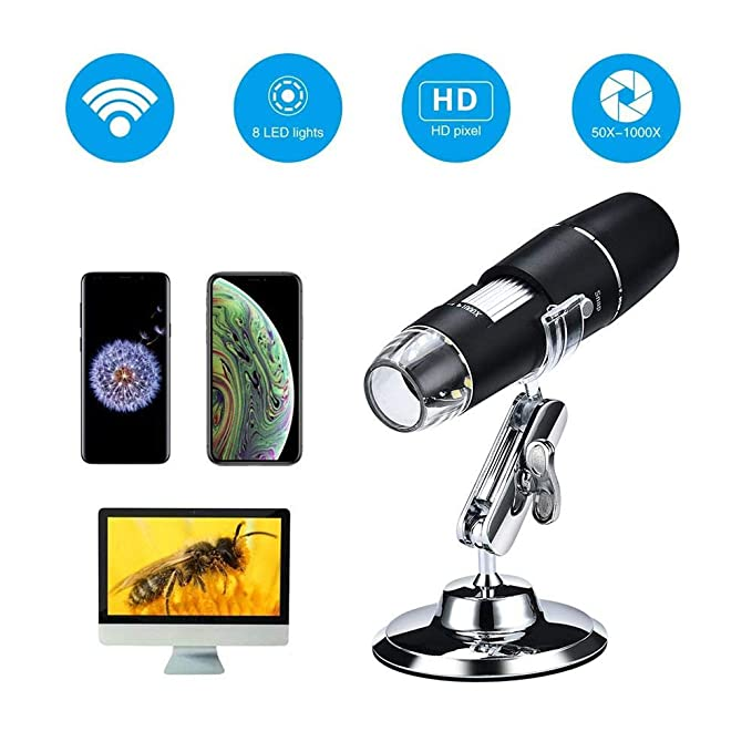 Digital Microscope 50x 200x LED Light Industrial Electronic Magnifier Photographing Camera Identification nyfcc