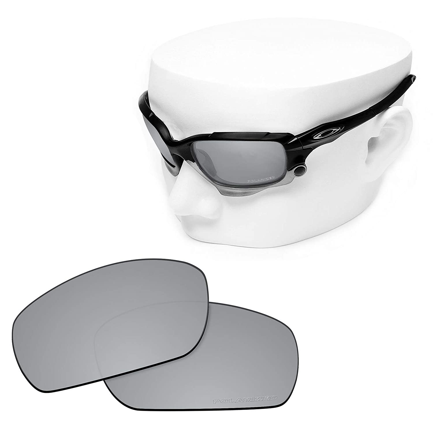 4756c3817cb Amazon.com  OOWLIT 2 Pair Replacement Sunglass Lenses compatible with Oakley  Jawbone POLARIZED  Clothing