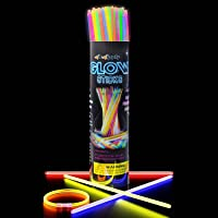 Swipply Glow Sticks Glow in The Dark Party Supplies Set of 100 Stick 8 Colors Fun Magic Cool Toys Games Bracelets…