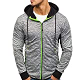 Clearance Deals Men Sweatshirt BeautyVan Men Casual Winter Zip Hoodie Slim Pocket Fit Tops Jacket Coats