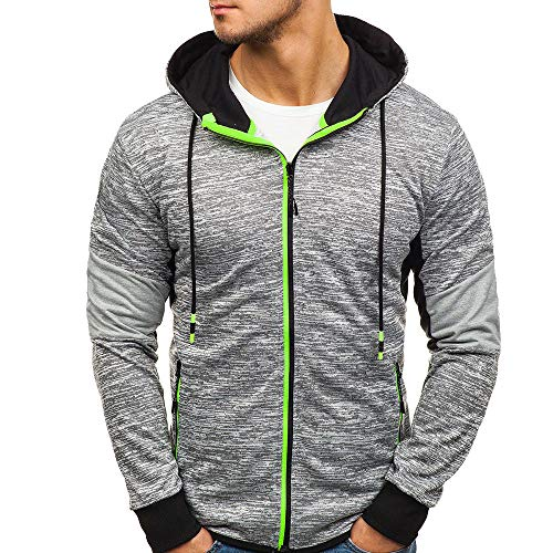 lGray Zip Fit Slim Pocket SalePervobs Full Long MenClearance Hoodies Casual For Sleeve Coat Mens Autumn Jacket Nvnm8w0