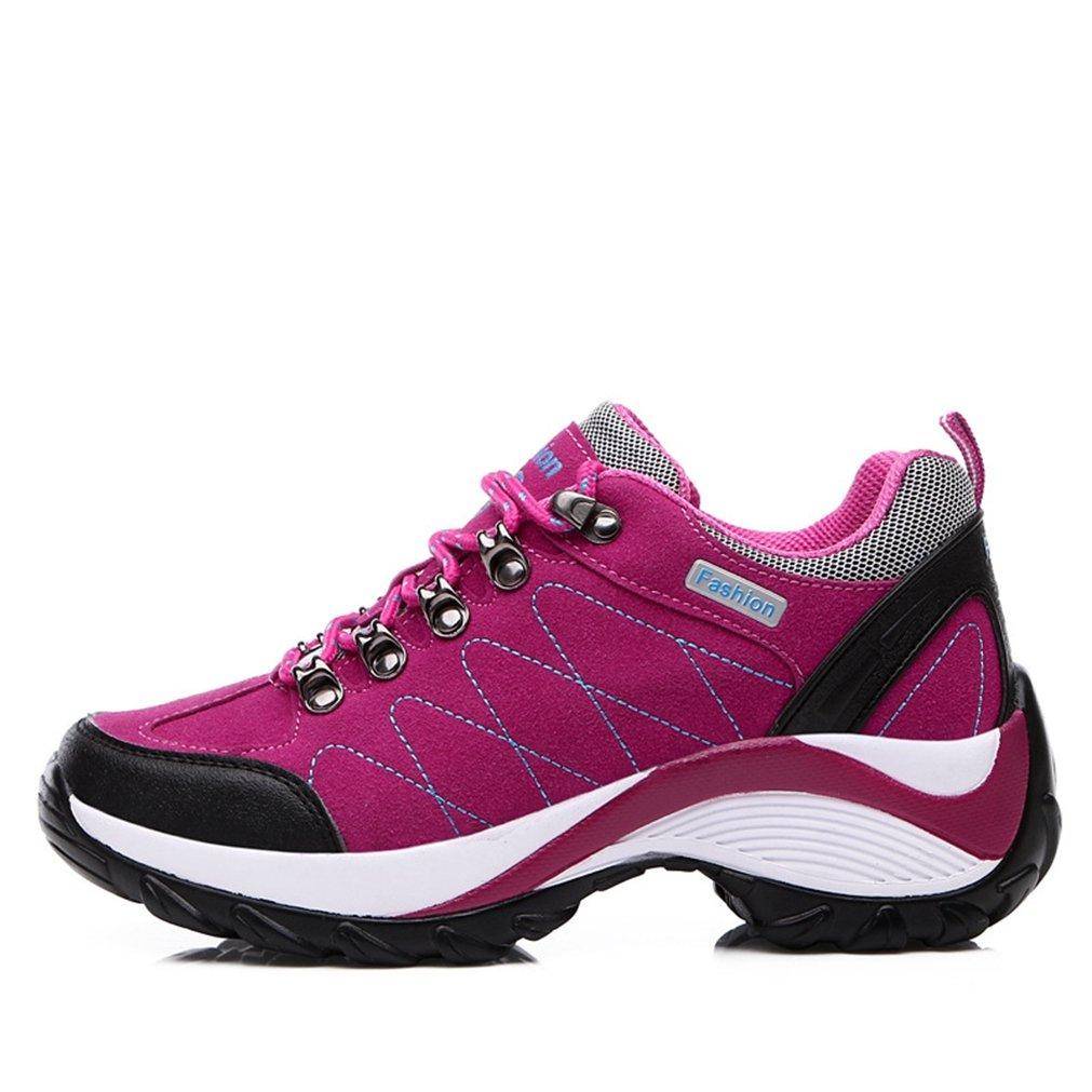 XI-GUA - Zapatillas de senderismo de Material Sintético para hombre 39|rojo rosado rojo rosado