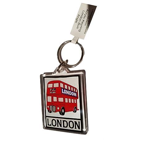 Ruta a Londres Master doble Decker Bus Routemaster llavero acrílico UK Souvenir! Souvenir/Speicher/memoria! Fun, ligera y portátil de Londres, ...