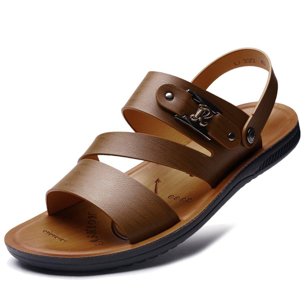 MERRYHE Microfibre en Cuir à Bout Ouvert Sandales De Plage Sport en Plein Air Glisser sur des Pantoufles Chaussures De Marche Occasionnels pour Les Hommes NSPLX