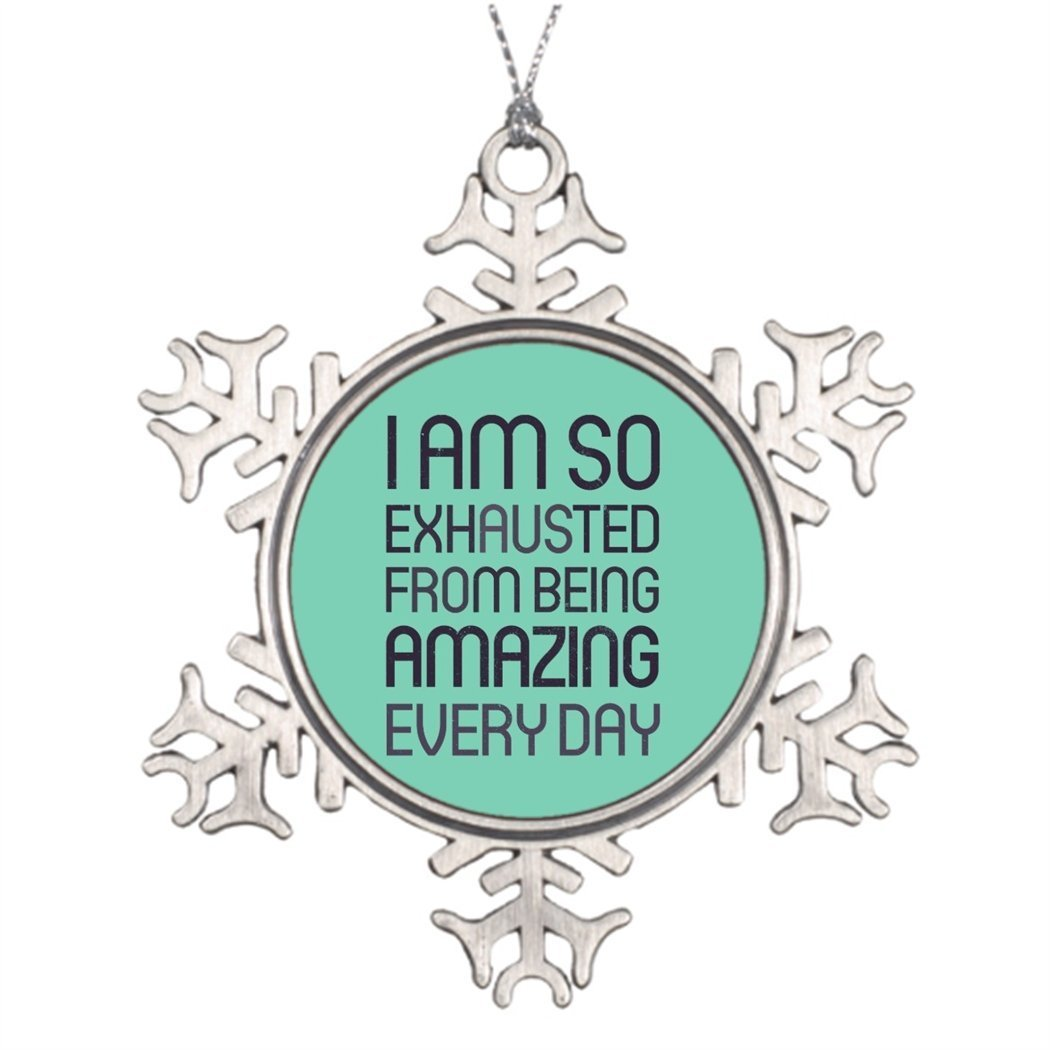 Sedlockyvq Christmas Decorating Ideas I am so exhausted from being amazing every day Best Christmas Snowflake Ornaments