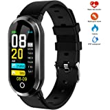 Pulsera Inteligente, WINSUNY Smartwatch Reloj inteligente deportivo con 0.96 TFT color Pantalla Bluetooth Smart Watch Multifuncional Smartband monitor de actividad Rastreador de fitness IP67 Impermeable fitness tracker para Mujeres, Hombres