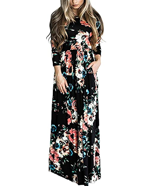 latest releases real deal brand quality TOP-MAX Women's Casual Sleeveless U-Neck Split Tank Top Bodycon Long Maxi  Dress