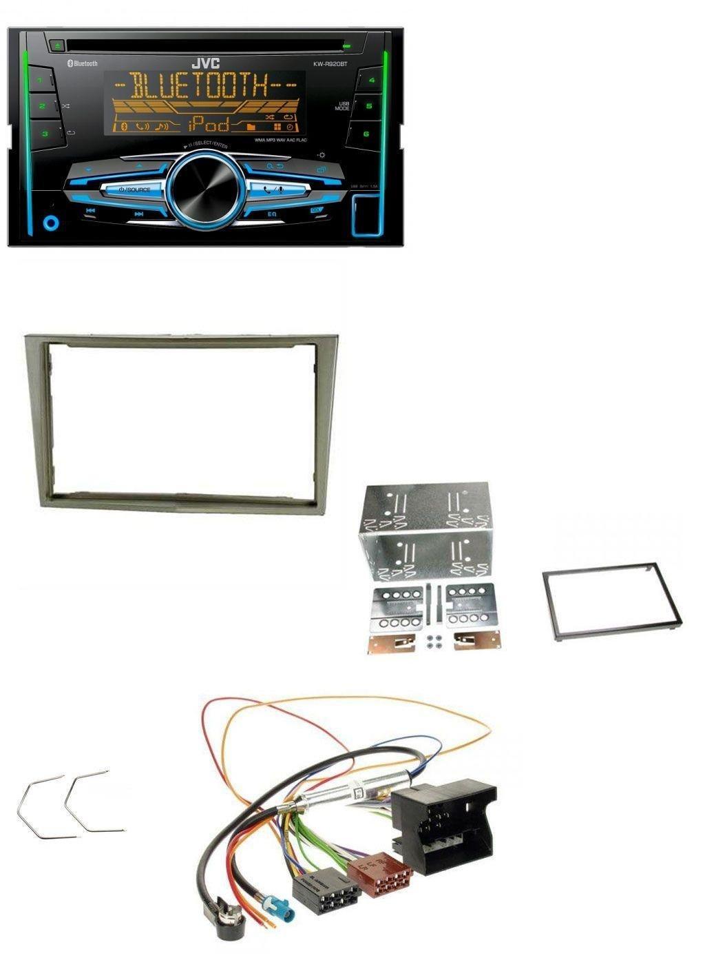 caraudio24 JVC KW-R920BT Bluetooth 2DIN Aux CD MP3 USB Autoradio fü r Opel Corsa D Astra H Zafira B Satin-Stone
