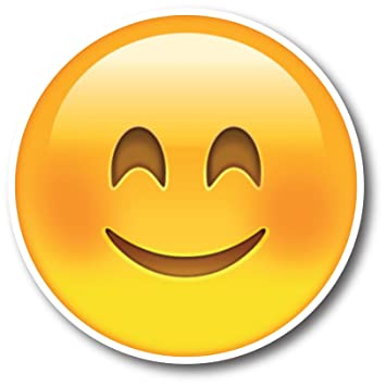 amazon com smiley face emoji magnet decal perfect for car or truck
