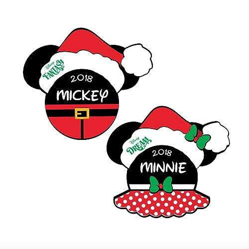 disney cruise christmas magnet santa mickey minnie magnets for disney cruise