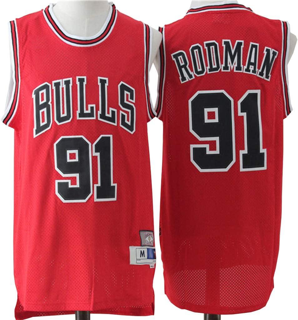 Chicago Bulls # 91-Trikot XYFF Herren-Basketballtrikot Herren-Trainingskleidung Bequem und schnell trocknend Dennis Rodman