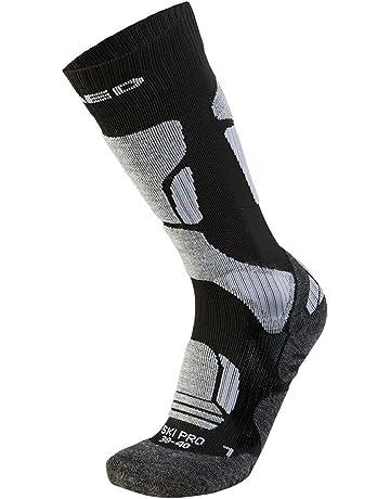XAED - Calcetines de esquí profesional ergonómicos para mujer (35/37, negro/