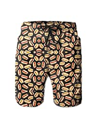 Hot Dogs All Around Men's Summer Casual Swimming Shorts Beach Board Shorts X-Large