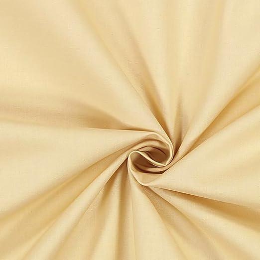 Tela al metro – Lienzo liso 100% algodón de trama 30 – 27, H. CM 140 – Crema: Amazon.es: Hogar