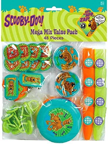 4-1//2 x 6-1//4 amscan Awesome Scooby-Doo Favor Container Birthday Party Favor Teal//Purple//Green