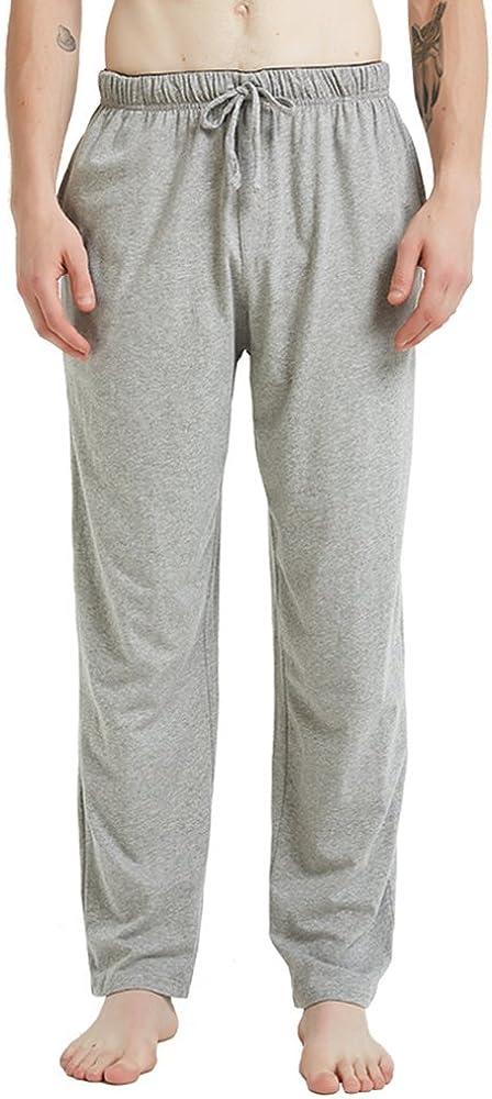 JINSHI Men's Sleep Wear Pajama Pants Lounge with Drawstring