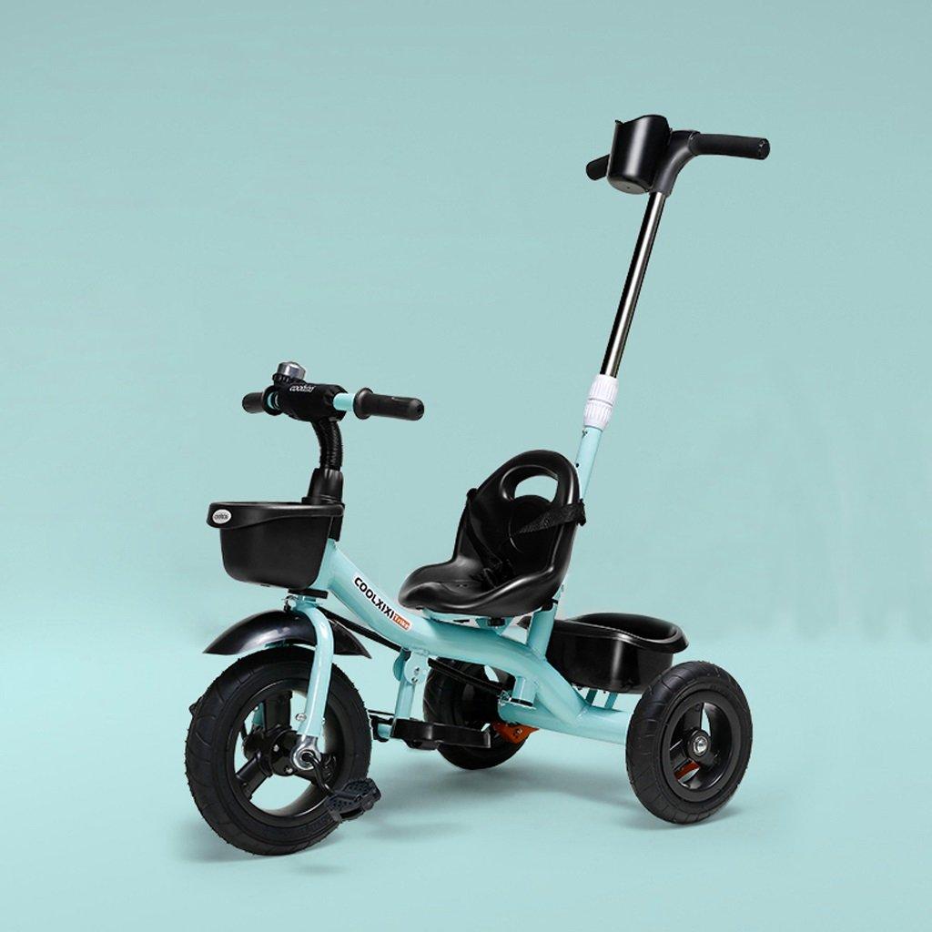 子供の三輪車の自転車1-6歳のトロリー赤ちゃんの自転車三輪車、青/ピンク/赤、71 * 48 * 92センチメートル ( Color : Blue ) B07C89SXDJ