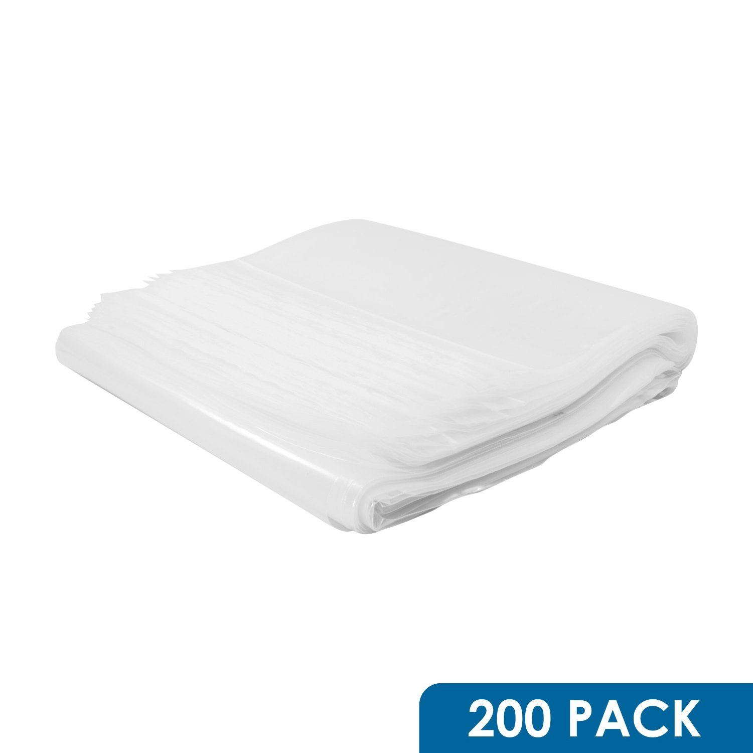 Rok Hardware Pack of 200 Heavy Duty 13'' x 18'' Resealable 4Mil Thick Plastic Big Clear Poly Zip Food Safe Storage Bags, Large by Rok