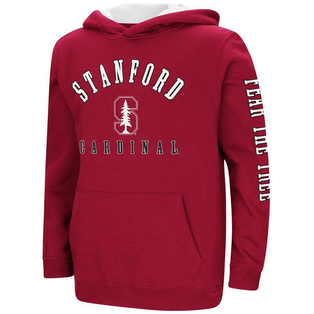 Colosseum Youth Stanford Cardinal用プルオーバーパーカー B07DWN61C6  Small (8/10)