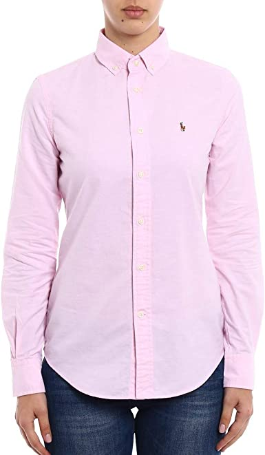 Ralph Lauren NGL Kendal-Long Sleeve-Shirt Camisa, Rosa, 10 ...