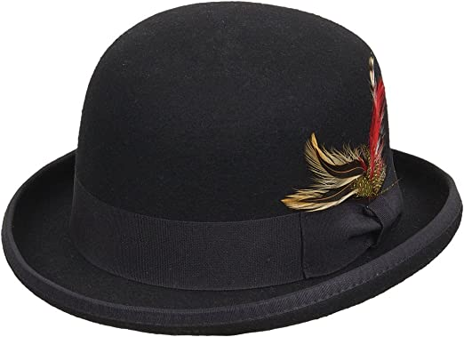 Kenny K Low Crown Wool Felt Satin Lined Derby Hat f8f592ce25a