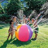 E-TS Large Inflatable Spray Water Ball Sprinkler Outdoor Fun Toy for Kids Children Swimming Party Beach Pool Play Children Kids Beach Ball Sprinkler