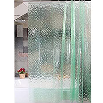 TOPKing Shower Curtain Mildew Resistant Waterproof Transparent Water Wave Ripple Sexy Translucent 708x