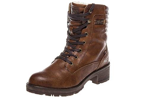 Mustang 1284-604 - Botines de caño bajo de Sintético Mujer, Color Marrón, Talla 41 EU: Amazon.es: Zapatos y complementos